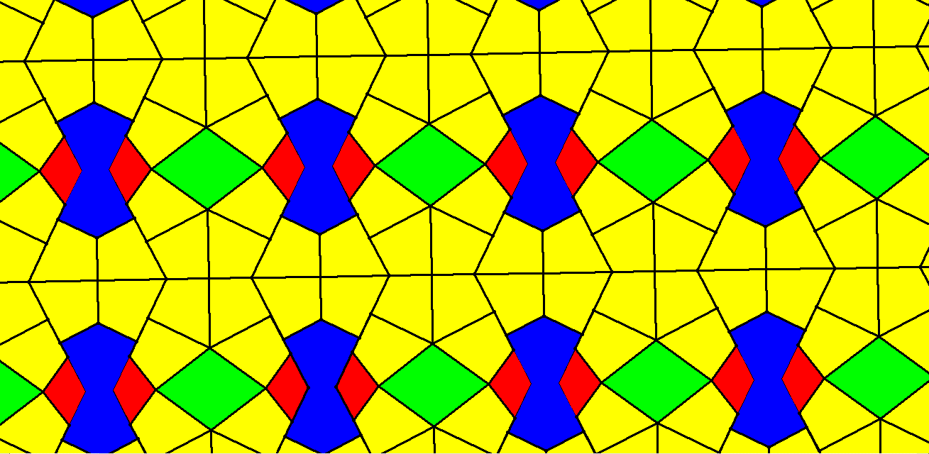 kites of two types and rhombi and diconcave octagons
