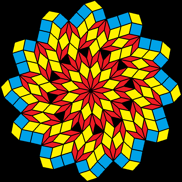 pinwheel of rhombi