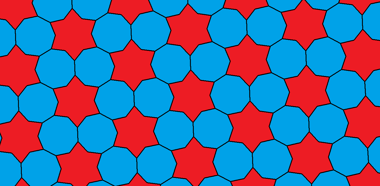 Tessellation featuring regular enneagons and hexaconcave dodecagons