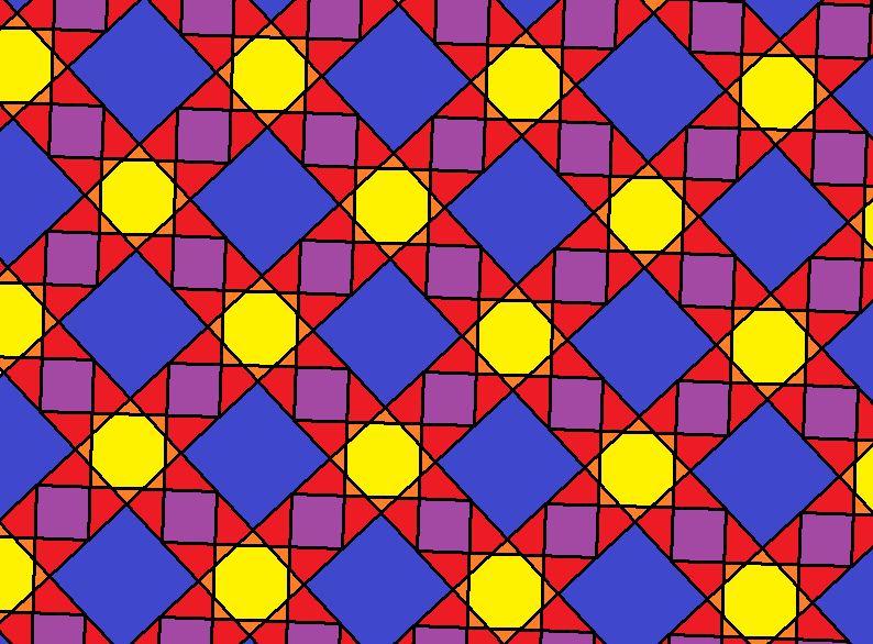 tessellation of star octagons and two sizes of squares