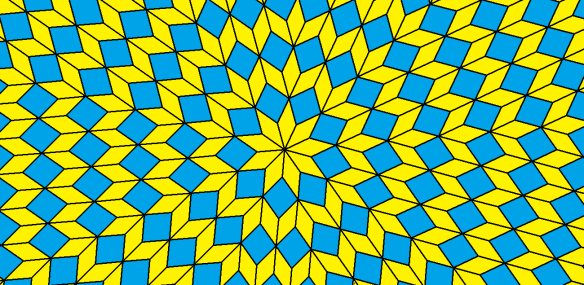 radial tessellation using two types of rhombi