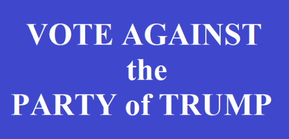 vote against the party of Trump